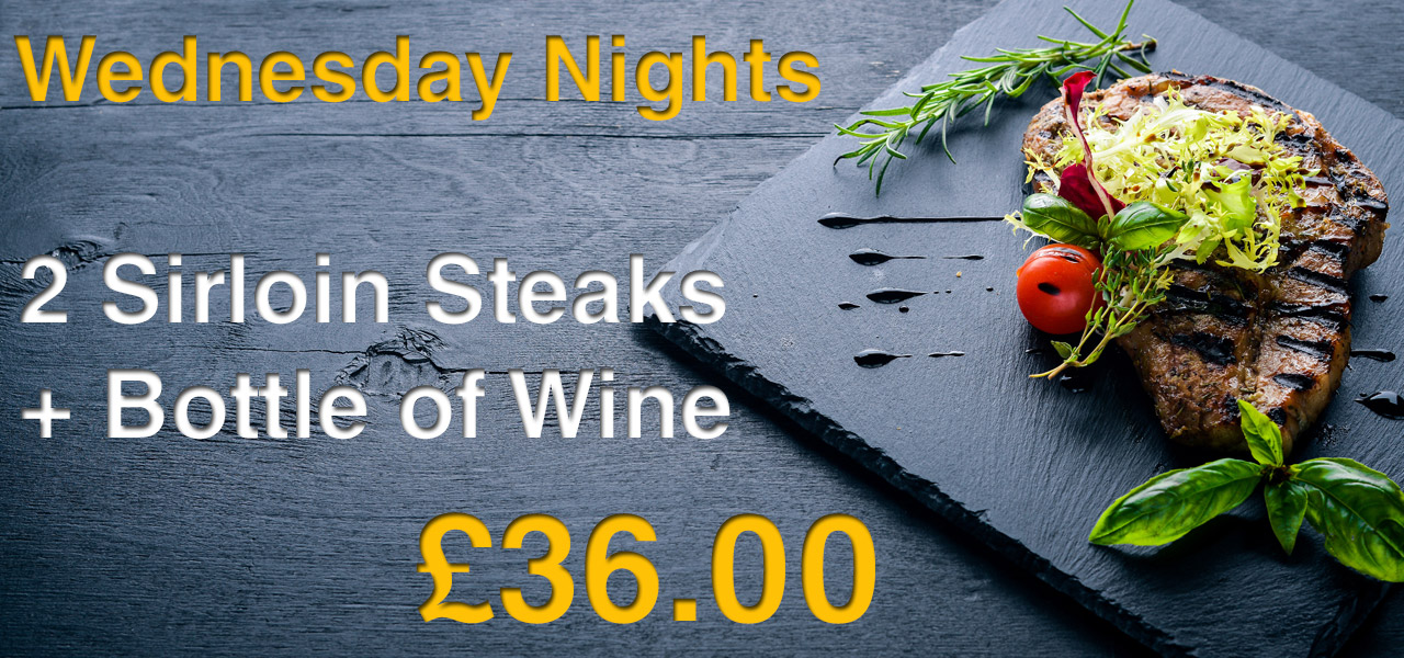Wednesday Night is Steak Night at the Spotted Dog